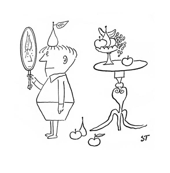 Imagination Drawing - New Yorker January 3rd, 1953 by Saul Steinberg