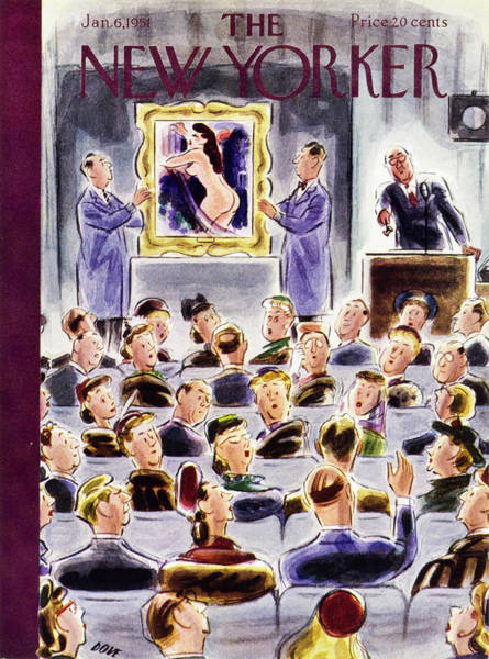 6 Painting - New Yorker January 6 1951 by Leonard Dove