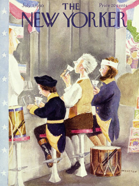 1 Painting - New Yorker July 1 1950 by William Cotton