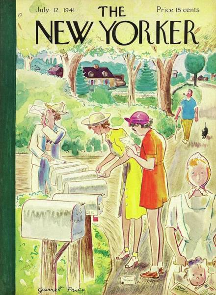 Summer Vacation Painting - New Yorker July 12 1941 by Garrett Price