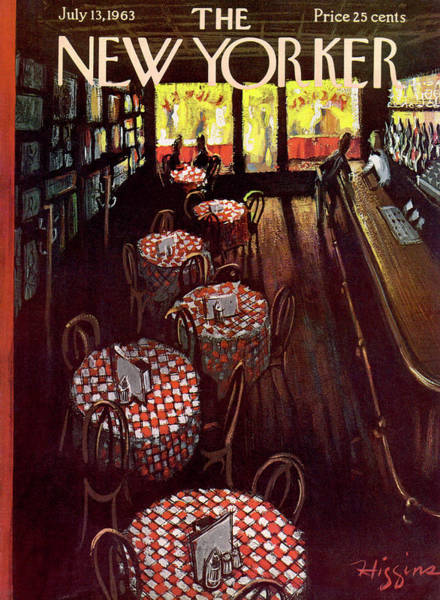 Restaurant Painting - New Yorker July 13 1963 by Donald Higgins