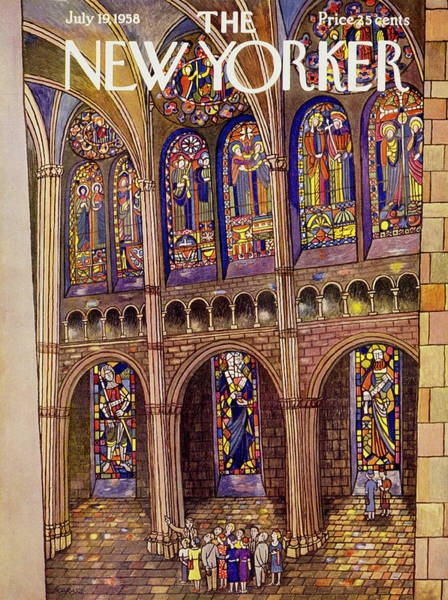 Painting - New Yorker July 19 1958 by Ilonka Karasz