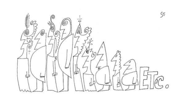 July 1st Drawing - New Yorker July 1st, 1961 by Saul Steinberg