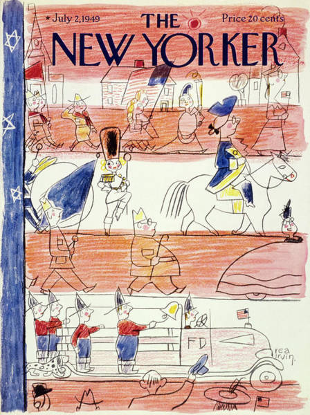 America Painting - New Yorker July 2 1949 by Rea Irvin