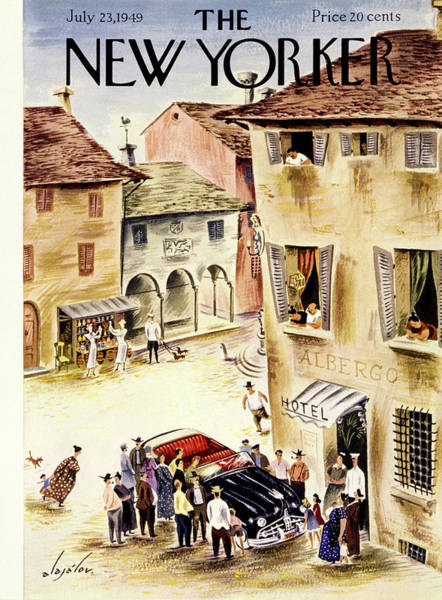 Summer Vacation Painting - New Yorker July 23 1949 by Constantin Alajalov