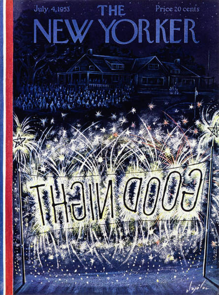 Audience Painting - New Yorker July 4 1953 by Constantin Alajalov
