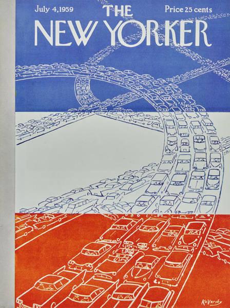 Painting - New Yorker July 4 1959 by Anatole Kovarsky