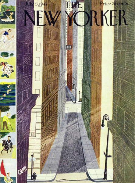 Summer Vacation Painting - New Yorker July 5th, 1947 by Charles E Martin
