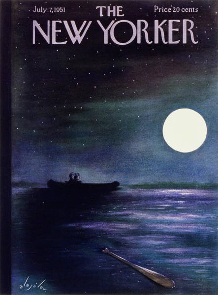 Stars Painting - New Yorker July 7 1951 by Constantin Alajalov