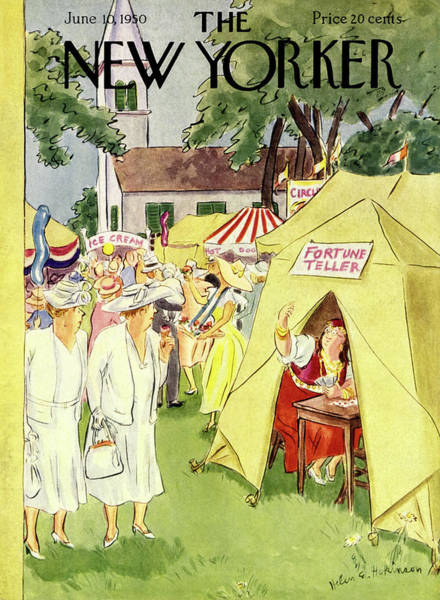 Fortune Teller Painting - New Yorker June 10 1950 by Helene E Hokinson