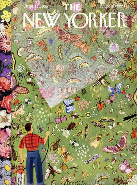 Gardener Painting - New Yorker June 13 1953 by Roger Duvoisin