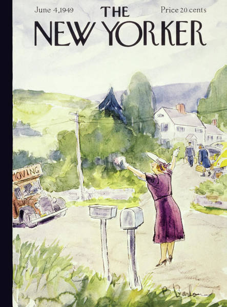 4 Painting - New Yorker June 4 1949 by Perry Barlow
