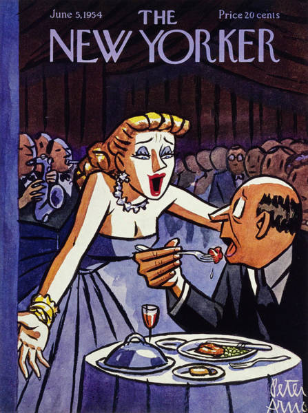 Nightclub Painting - New Yorker June 5 1954 by Peter Arno