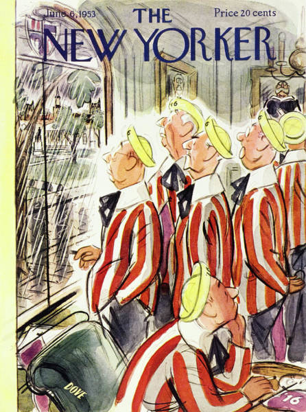 Reunion Painting - New Yorker June 6 1953 by Leonard Dove
