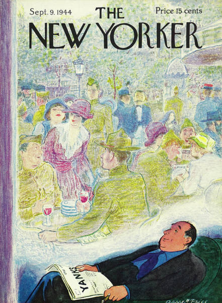 Wall Art - Painting - New Yorker Magazine Cover Of A Man Dreaming by Garrett Price
