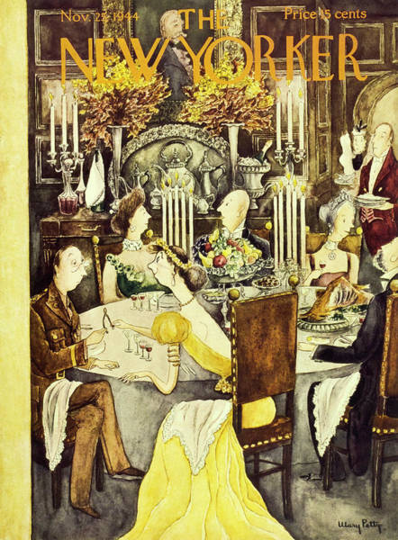 Formal Wear Painting - New Yorker Magazine Cover Of A Thanksgiving by Mary Petty