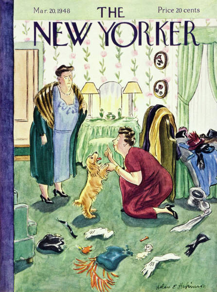Wall Art - Painting - New Yorker March 20, 1948 by Helene E Hokinson