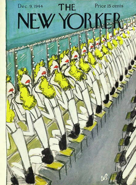 Performing Arts Painting - New Yorker Magazine Cover Of Chorus Girls by Aaron Birnbaum