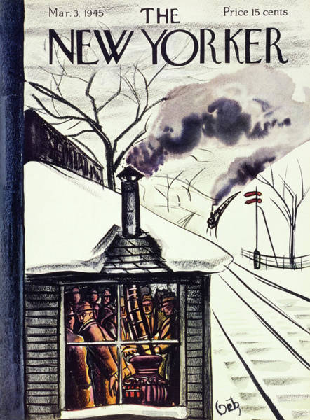 March 3rd Painting - New Yorker Magazine Cover Of Commuters by Arthur Getz