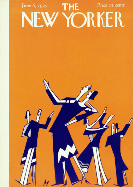 Magazine Painting - New Yorker Magazine Cover Of Couples Dancing by Julian De Miskey
