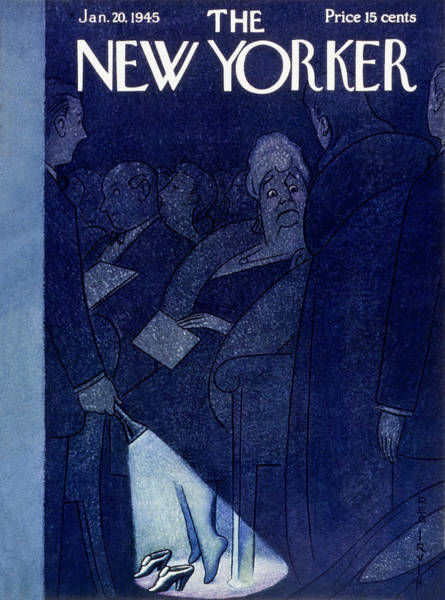 Performing Arts Painting - New Yorker Magazine Cover Of Ushers Shining by Rea Irvin