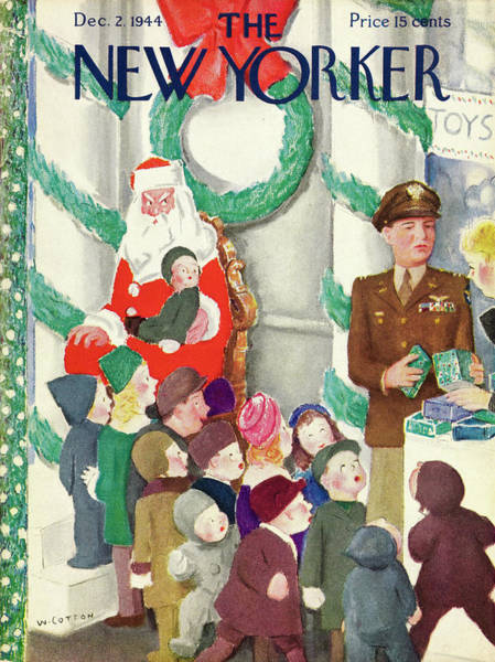 Wall Art - Painting - New Yorker December 2, 1944 by William Cotton