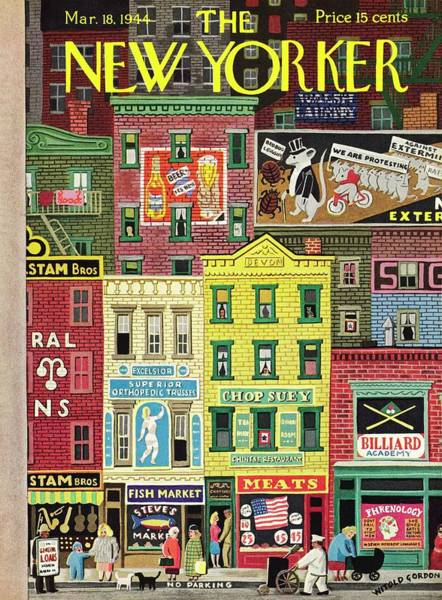 Restaurant Painting - New Yorker March 18 1944 by Witold Gordon
