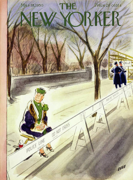 Celebration Painting - New Yorker March 18 1950 by Leonard Dove