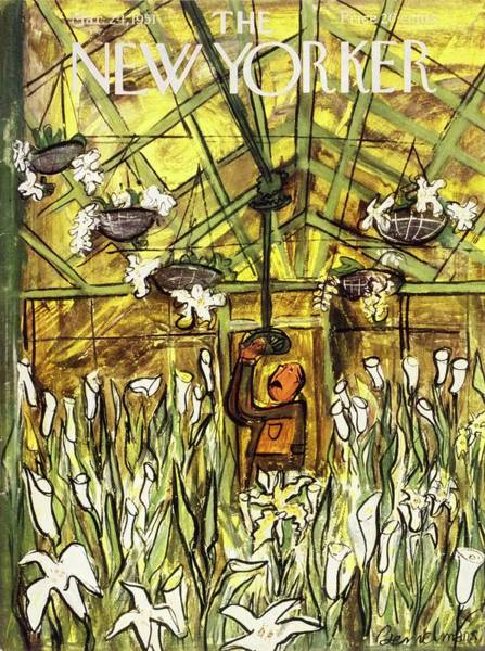 Spring Blossom Drawing - New Yorker March 24 1951 by Ludwig Bemelmans