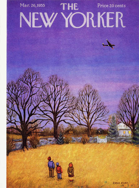 Countryside Painting - New Yorker March 26, 1955 by Edna Eicke