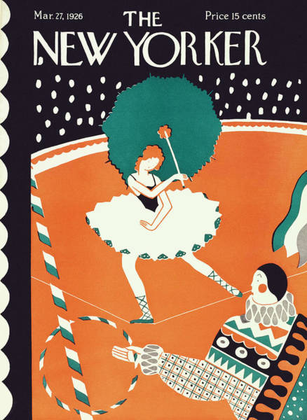 Entertainment Painting - New Yorker March 27th, 1926 by Ilonka Karasz