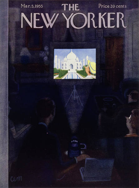 Relationship Painting - New Yorker March 3, 1955 by Charles Martin