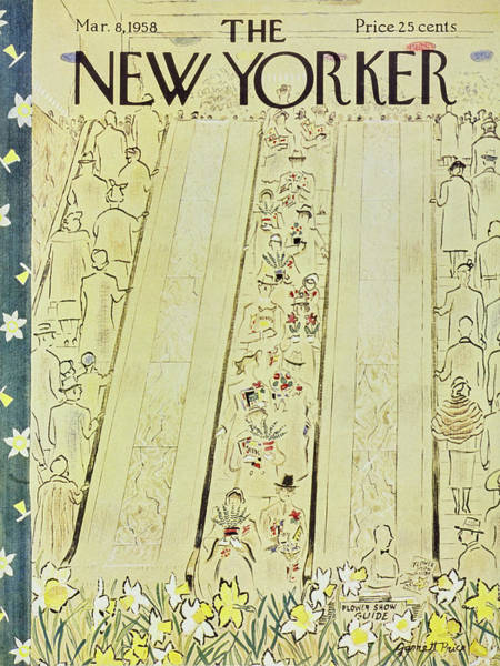 1958 Painting - New Yorker March 8 1958 by Garrett Price