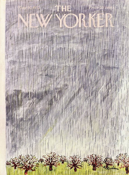 Cloud Painting - New Yorker May 10 1952 by Abe Birnbaum