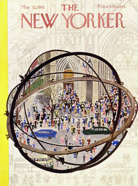 Marriage Painting - New Yorker May 12 1951 by Ilonka Karasz