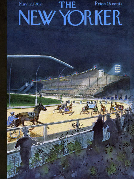 Race Horse Drawing - New Yorker May 12 1962 by Garrett Price