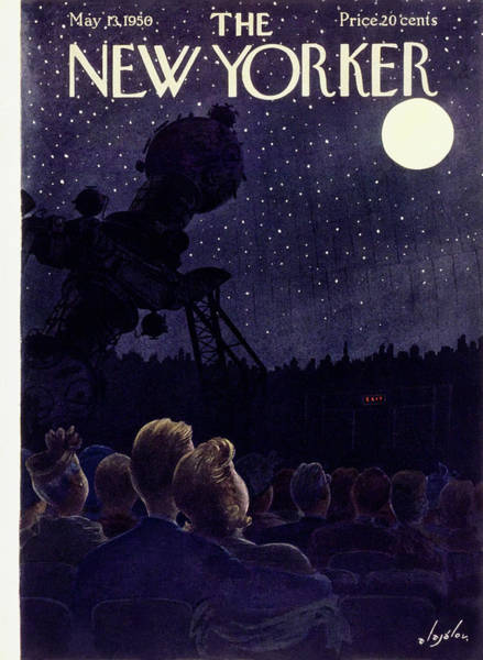 Audience Painting - New Yorker May 13 1950 by Constantin Alajalov