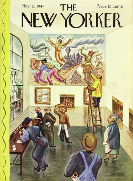 Office Painting - New Yorker May 17 1941 by Virginia Snedeker