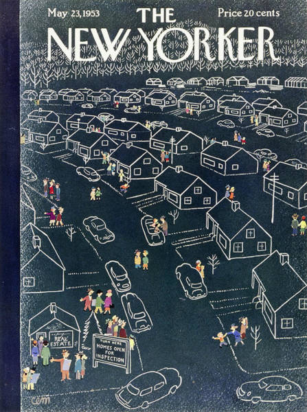 Home Painting - New Yorker May 23 1953 by Charles Martin