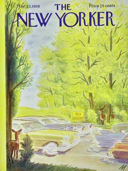 Traffic Painting - New Yorker May 23 1959 by Julian De Miskey