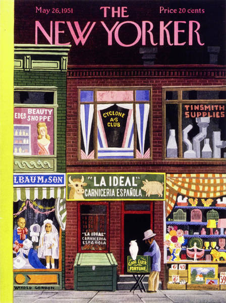 Fortune Teller Painting - New Yorker May 26 1951 by Witold Gordon