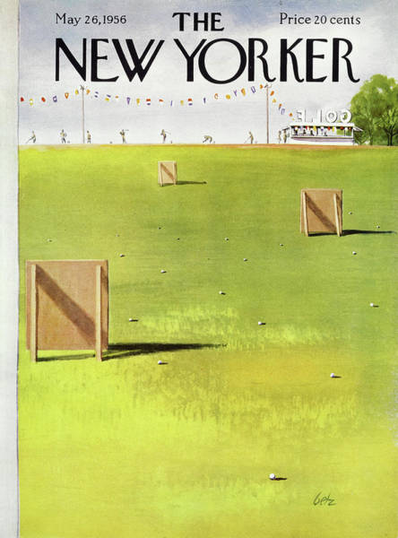 Golf Painting - New Yorker May 26 1956 by Arthur Getz