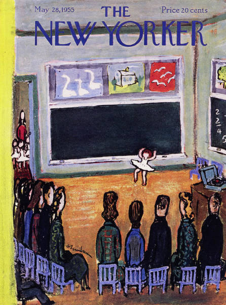 Audience Painting - New Yorker May 28 1955 by Abe Birnbaum
