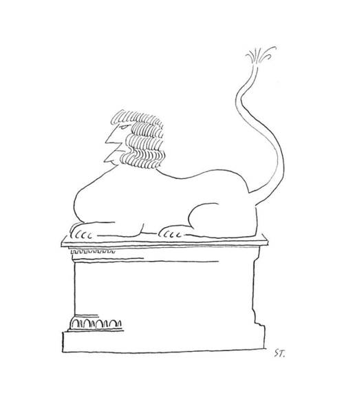 Mythology Drawing - New Yorker May 2nd, 1953 by Saul Steinberg