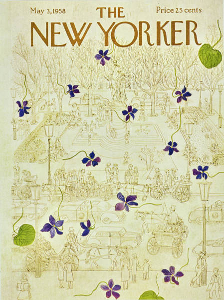 Painting - New Yorker May 3 1958 by Ilonka Karasz