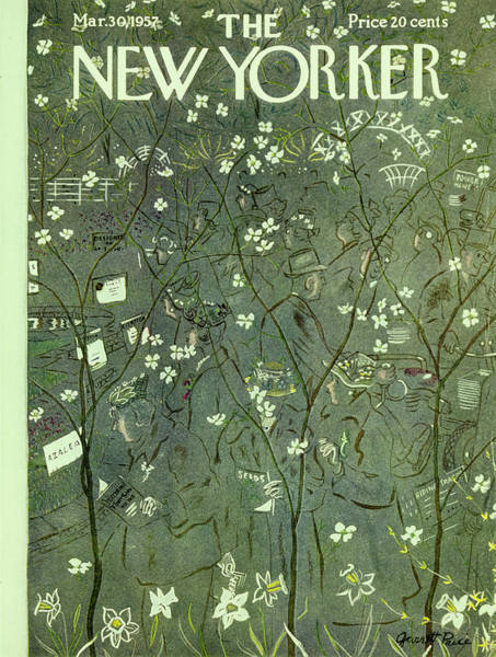 Plant Painting - New Yorker May 30 1957 by Garrett Price
