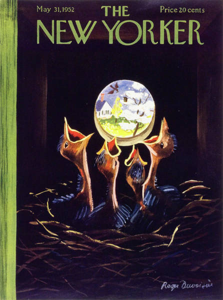 World News Painting - New Yorker May 31 1952 by Roger Duvoisin