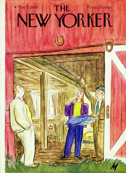 Country House Painting - New Yorker May 7 1949 by Julian De Miskey