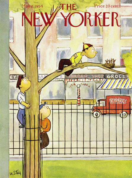 City Painting - New Yorker May 8 1954 by William Steig