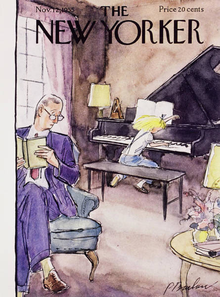 Audience Painting - New Yorker November 12 1955 by Perry Barlow